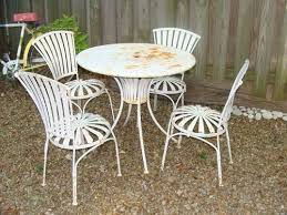 Vintage 1940 s Outdoor Patio Set Porch Garden Round Table 4 Chairs