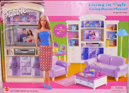 living room barbie furniture living in style new mattel doll