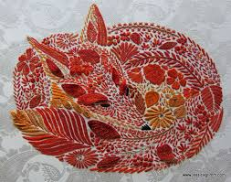 Fox Embroidery By Jessica Grimm