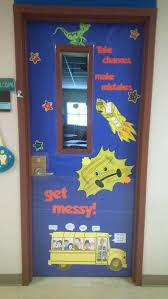 Christmas Classroom Door Decorations On Pinterest by Magic Bus Door Meet The Teacher Beginning Of The Year
