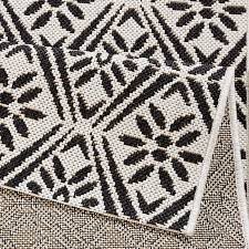 küchenläufer flachgewebe läufer creation schwarz creme 80x200 cm