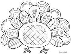 Free Turkey Doodle Coloring Page Printable From Art Alley