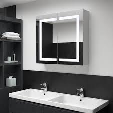 vidaxl led bad spiegelschrank 80 x 12 2 x 68 cm gitoparts