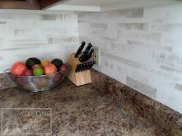 faux tile back splash with paint welcome to the woods