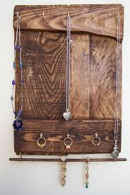 Jewelry Organizer Rustic Holder Craft Wooden Pallet Key Rack