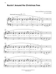 Who Sings Rockin Around The Christmas Tree by Christmas Songs A To Z Big Note Piano Arr J W Pepper Sheet