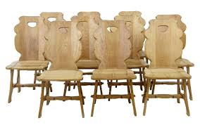 Debenham Antiques - SET OF 10 1920's SWEDISH OAK DINING CHAIRS - UK&EU Set Of 8 Mahogany Ladder Back Ding Chairs Loveday Antiques West Saint Paul Vintage Finds Art Deco And Retro Fniture Of The 50s 60s Riva 1920 Boss Executive Table 810 Seater Walnut Heals French Louis Xiv Style Circa 1920s Art Deco Console Antique Fniture Sold 4 Tudor New Upholstery Elegant Pair Felix Kayser Antrosophical Ash Wood Chairs From Sothebys Home Designer Fniture John Hutton 0415antiqueshtml Mad For Midcentury More American Martinsville Info