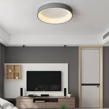 led deckenleuchte modern in rund für wohnzimmer