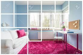 weiß rosa und blaue schlafzimmer für mädchen
