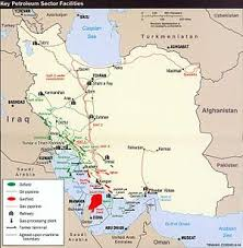Irans Oil And Gas Fields Infrastructures Iran Trunk Line