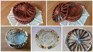 How To Make Round Box With Newspaper Tubes