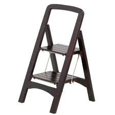 Cosco Counter Chair Step Stool by Cosco Rockford Series 2 Step Mahogany Step Stool Ladder 225 Lb