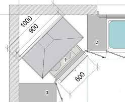 meuble d angle bas pour cuisine implantation évier en angle plaque cuisson en angle armoire en