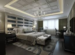 Luxurious Bedroom With White Bed 3D model