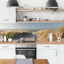 küchenrückwand ostsee strand küche spritzschutz
