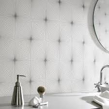 Metallic Tile Effect Wallpaper by Waterproof Bathroom Wallpaper Ideas For Wetrooms
