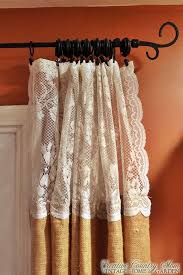 Creative Country Mom Sewing Burlap And Lace Curtains