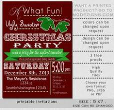 Printable Fun Vintage Ugly Sweater Holiday Party Invitations Christmas Holidays Tell Your Guests Where