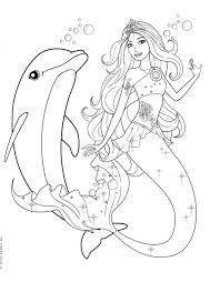 Pictures Barbie Mermaid Coloring Pages 46 For Picture Page With