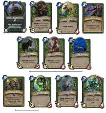 Hearthstone Hunter Beast Deck 2015 by Taverns Of Time The Ultimate Fanmade Hearthstone Expansion