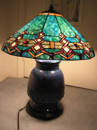 Tiffany Style Lamps Vintage by For Sale Tiffany Style Turquoise Southwestern Stained Glass Lamp
