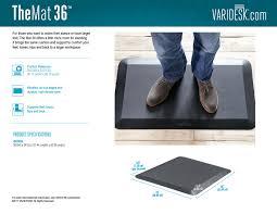Standing Desk Floor Mat by Comfort Floor Mat 36 Varidesk Standing Desks
