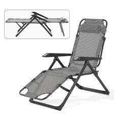 Mecor Lounge Chairs Folding Bed Adjustable Recliner Patio Chairs Folding  Recliner Outdoor Indoor Yard Beach (Plaid-high)