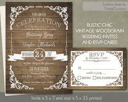 Rustic Chic Barn Wood Wedding Invitation