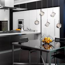 Kitchen Island Pendant Lighting Ideas by Kitchen Island Lighting Ideas Chrome And Crystal Mini Pendant