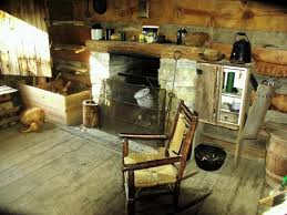 inside a pioneer log cabin woodland altars sinking springs
