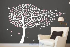 Full Size Of Designswall Stencil Tree Branch With Songbirds As Well Black