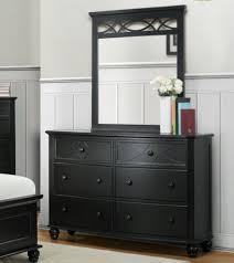 homelegance sanibel 6 drawer dresser w mirror in black beyond