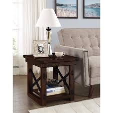 Wood End Table With Lamp Attached by Better Homes And Gardens Preston Park End Table Dark Oak