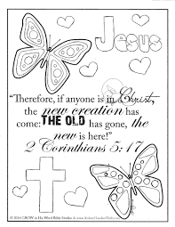 Printable Bible Coloring Pages With Verses 1
