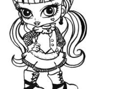 Baby Monster High Print Coloring Pages For Kids