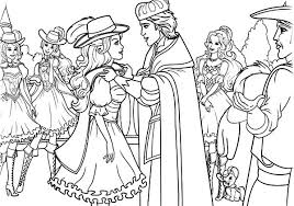 The King Thanked To Barbie Three Musketeers Coloring Pages