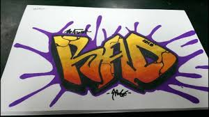 How To Draw Graffiti Word RAD