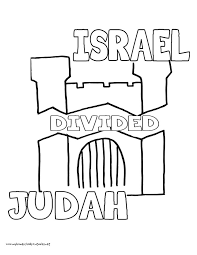 World History Coloring Pages Printables Israel And Judah Divided