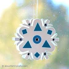 Easy Snowflake Crafts For Toddlers Paper Fun And 6 Fast About Family Craft Foam