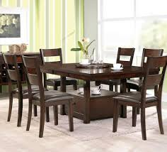 steve silver gibson gb 7 piece dining set with square lazy susan