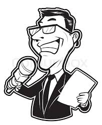 Black And White Clipart Reporter Man Journalist Free Newspaper
