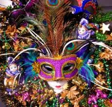 Mardi Gras Mask Door Decoration by Mardi Gras Mask With Feathers Ribbon And Beads Decoration Mardi