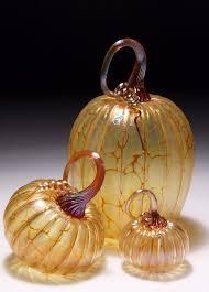 Glass Blown Pumpkins Seattle by Art Glass Pumpkin Hand Blown Glass Paperweight Home Decor Fall