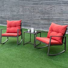 Costway: Costway 3-Piece Patio Wicker Bistro Furniture Set W/ 2 ...