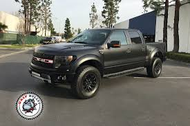 Ford Raptor Wrapped In 3M Satin Black | Wrap Bullys