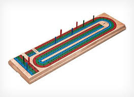 Traditional Wooden Cribbage Board Game Set