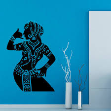 Indian Woman Buddha Dance Wall Stickers Hinduism Living Room Home