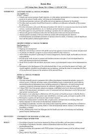 Resume Templates Social Work Medical Worker