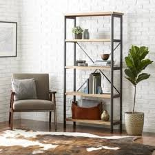 Perth 5 Shelf Industrial Bookcase By Christopher Knight Home