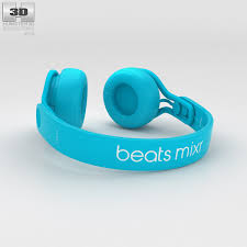 Beats Mixr High Performance Professional Light Blue 3D model Hum3D